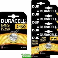 10 x Duracell CR2430 3V Lithium Coin Cell Battery DL2430 K2430L ECR2430
