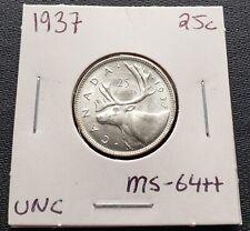 1937 Canada Silver 25 Cent Quarter ***MS-64 Condition*** Original Luster