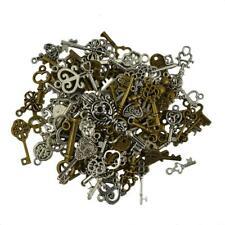 60pcs Vintage Metal Bronze Key Charms Pendant DIY Jewelry Making Accessories
