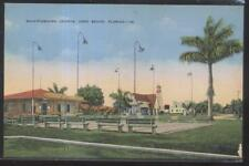 Postcard VERO BEACH Florida/FL  Chamber of Commerce & Shuffleboard Courts 1930's