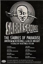 """NEWSPAPER CLIPPING/ADVERT 14/5/94PGN45 7X5"""" SABRES OF PARADISE : SABRESONIC ON T"""