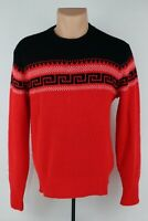 True Vintage 1950s McGregor Mens 40 (Fits S) Patterned Orlon Acrylic Sweater USA