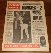 MELODY MAKER 15 APR 1967 BEATLES MONKEES HENDRIX DYLAN BEE GEES CAT STEVENS