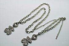 Cute Crystal Bear Pendant Silver Plated chain Fashion bracelet & Necklace set
