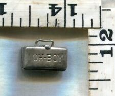 VINTAGE STERLING BRACELET CHARM~RAREX2~OH-BOY OPENING LIQUOR CABINET~CHEAP @$80!