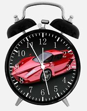 "Super Car Alarm Desk Clock 3.75"" Home or Office Decor W77 Nice For Gift"
