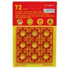 Cap Gun Refills 8-shot Plastic Ring Circle Capsules Disc Type 2 Dozen
