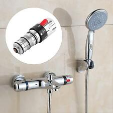 Bath Thermostatic Mixer Tap Mixing Shower Water Heater Valve Spray Kit Handle