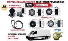 FOR MERCEDES SPRINTER 313 CDI 2011-2016 DRIVE LINE TENSIONER PULLEYS + FAN BELT