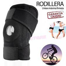 Rodillera Ajustable Deportiva de Neopreno Elastica Velcro Deporte Futbol Padel