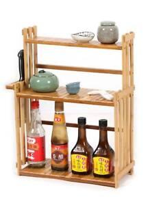 Bamboo Kitchen Storage Shelf Rack Holder Organizer Bathroom Multi-Function多功能置物架