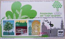 """Metro Amsterdam 1977 - Blok Amsterdam zet """"t zijn"""" op groen gestempeld, ongetand"""