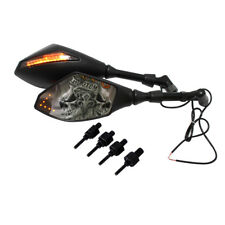MATTE BACK MOTORCYCLE TURN SIGNAL INTERGRATED REARVIEW MIRRORS FOR HONDA BUELL R