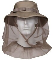 Booniehat With Mosquito Insect Netting Khaki Jungle Sun Boonie Hat Rothco 5583