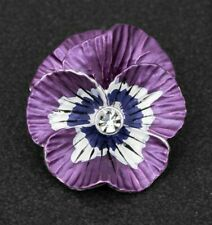 Equilibrium Silver Plated Violet Pansy Brooch Boxed 294643