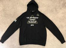 Reebok UFC The Notorious Conor McGregor Black Hoodie Sweatshirt Size XL X-Large