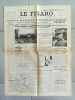 Fac similé Journal LE FIGARO 19 MAI 1940
