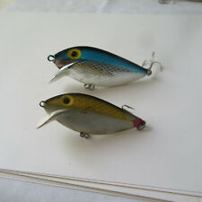 "FISHING LURE  STORM  3""  BLUE & SILVER  AND 2½""  BLACK & GOLD"