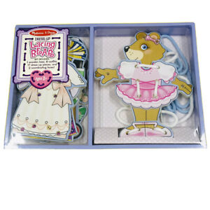 Dress Up LACING BEAR ~ Melissa & and Doug ~ Learn To Lace ~ BN Sealed