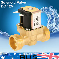 DC 12v 300ma Normal Closed Brass Electric Solenoid Valve Water Air G3/4