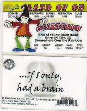 the SCARECROW of  the Land of Oz drivers License fake id w w denslow wizard
