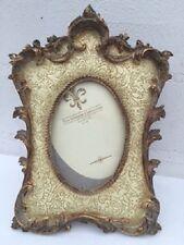 nostalgie Bilderrahmen creme - gold barok 10x15 cm Fotorahmen Foto Rahmen 51767