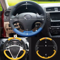 Custom made PU Leather Steering Wheel Cover Stitch on Wrap For Lexus IS250