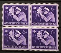 Germany (Third Reich)1944 Heros Memorial Day block of 4 - Mi 876 Sc 260 MNH