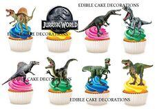 30 JURASSIC WORLD DINOSAUR STAND UP Cupcake Cake Topper Edible Paper Decoration