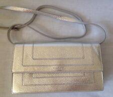 Michael Kors Silver Leather Evening Handbag Shoulder Bag / Cross Body Bag NEW