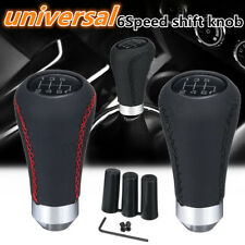 Universal 6 Speed Car Pu Leather Shift Knob Manual Gear Stick Shifter Lever UK