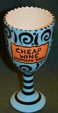 Our Name is Mud WINE Glass - CHEAP WINE EXPENSIVE GOBLET