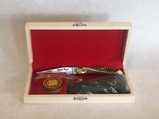 Coffret cadeau n°15 : Couteau de poche LAGUIOLE + étui + aigusiseur et graisse .