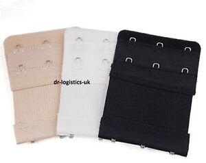 3 Items of 3 Hooks Ladies Bra Extender Bra Extension Strap Underwear Strapless