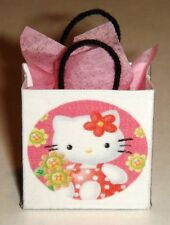 Miniature Floral Hello Kitty Gift Bag with tissue
