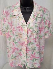 Alfred Dunner Woman's Petite Multi Color Floral Button Down Shirt Size 16P