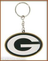 GREEN BAY PACKERS KEY RING OFFICIAL / GENUINE NFL WITH HOLOGRAM KEYRING CREST