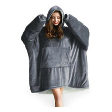 Adult Sherpa Plush Comfy Sweatshirt Casual Oversized Hoodie with Pocket Blanket
