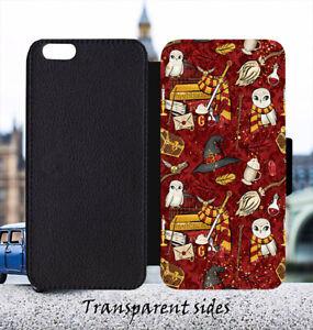 Gryffindor Red Hedwig Owl Leather Flip Wallet Phone Case