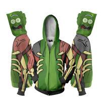 Cartoon Rick and Morty 3D Pringting Men/Women Zipper Hoodie Sweatshirts Pullover