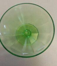 Vintage Fenton EAPG Green Vaseline Pattern Glass Sherbet Desert Cup ~ Free Ship