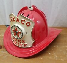 VINTAGE TEXCO FIRE CHIEF Fire Fighting Toy  with Speaker HELMET 1960's