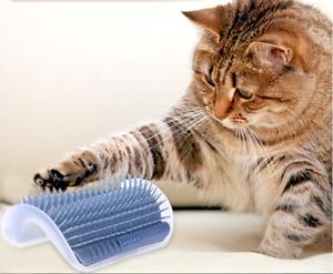 Cats scraper corner play brush scratching post self-grooming scraper