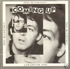 "PAUL McCARTNEY - Coming Up (1980 VINYL SINGLE 7"" GERMANY PS)"