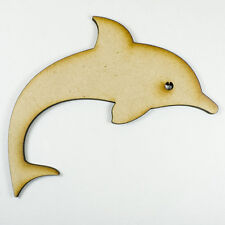 MDF Wood Wooden Shape / Shapes Dolphin Cutout for Craft Home Room Decor Kids