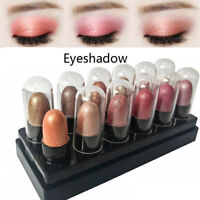12pcs/set surligneur brillant paillette fard à paupières stick crayon eye-liner
