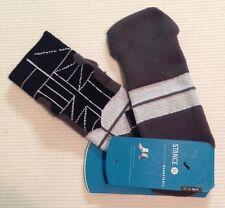 3x pairs LOT STANCE Socks FUSION Basketball HIERO LOW Grey/Black/White Men Lg/XL
