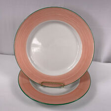 Steelite Rio Dinner Plates Pink England 11 3/4 Inches Lot of 2