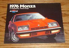 Original 1976 Chevrolet Monza Sales Brochure 76 Chevy Towne Coupe Hatchback