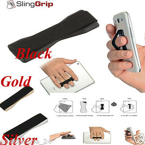 Finger Grip your phone Holder Halter Selfie Strap  iPhone samsung  iPad, Tablet
